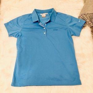 Nike Golf Light Blue Nike Fit Dry Golf Polo Shirt